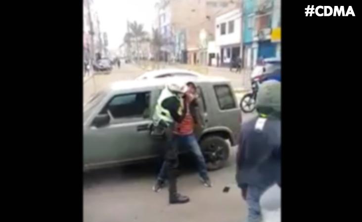 #HUARAL: CONDUCTOR AGREDIÓ A POLICÍA QUIEN LE RECLAMÓ OBEDECER REGLAS DE TRÁNSITO