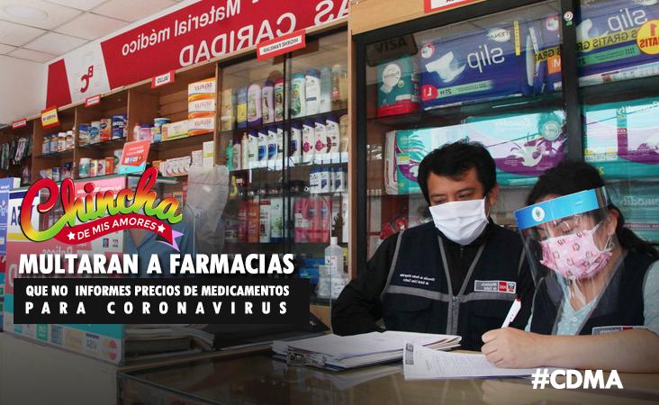 Multas de hasta S/ 8,600 para farmacias que no informen precios de medicamentos contra el coronavirus