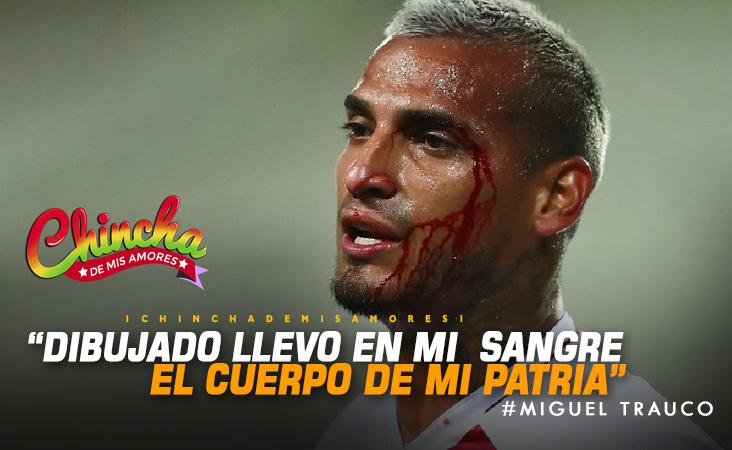 """#MIGUEL TRAUCO: """"DIBUJADA LLEVO EN MI SANGRE EL CUERPO DE MI PATRIA"""""""