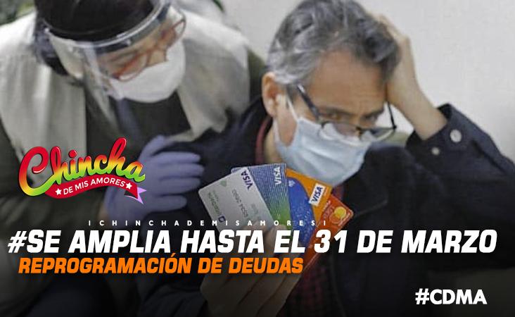 #HASTA EL 31 DE MARZO RIGE AHORA  PLAZO PARA REPROGRAMAR DEUDAS