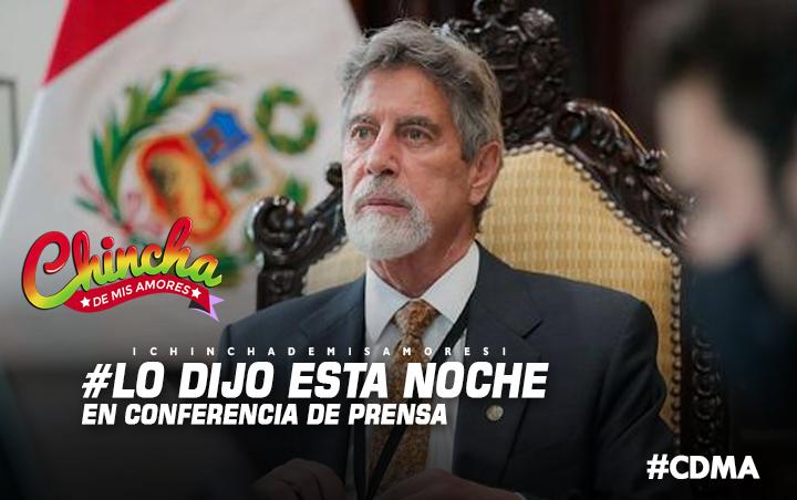 #FRANCISCO SAGASTI SOBRE VACUNACIÓN: SOY EL PRIMERO QUE PONDRÁ EL HOMBRO