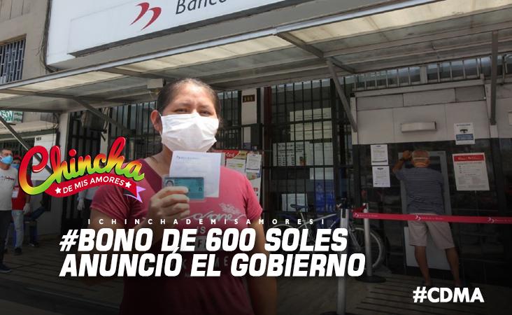 #GOBIERNO ENTREGARÁ BONO DE 600 SOLES A 4.2 MILLONES DE FAMILIAS