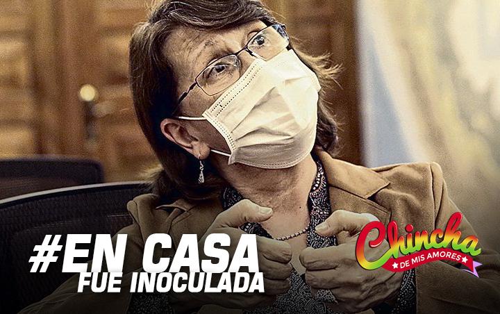 #INFORME SEÑALA QUE PILAR MAZZETTI RECIBIÓ DOSIS EN SU DOMICILIO