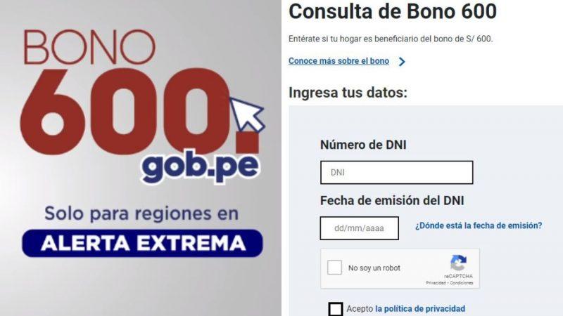Bono 600 soles: Gobierno habilita portal de consulta de beneficiarios