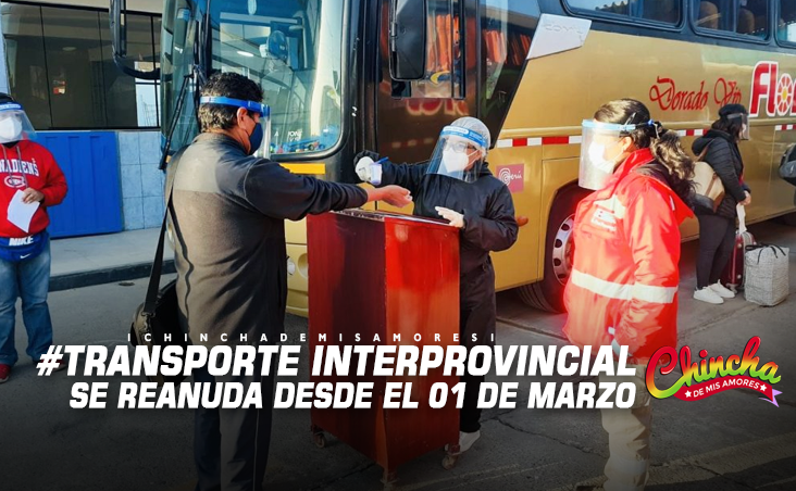 #¿Cómo será el transporte interprovincial terrestre desde el Lunes 01?