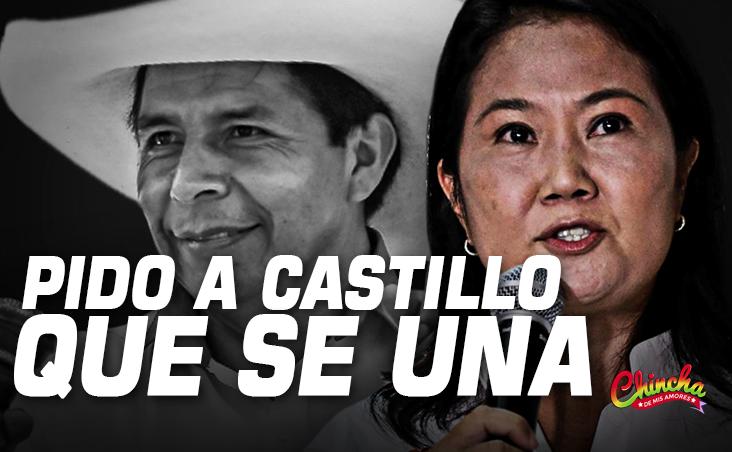 Keiko pide a Castillo sumarse a su pedido de solicitar una auditoría de la segunda vuelta