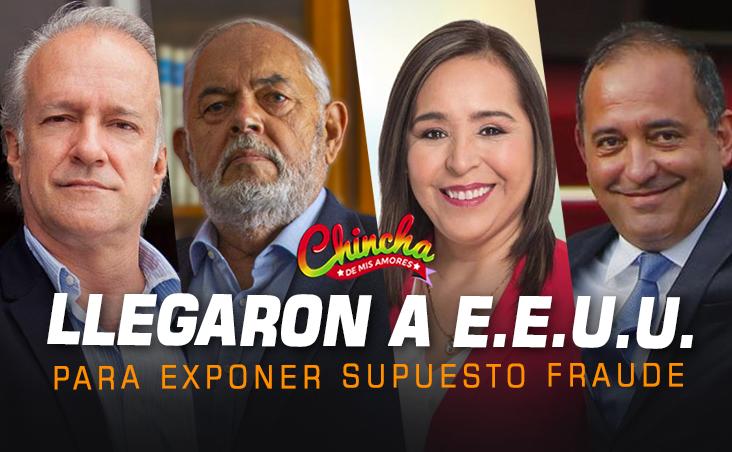 POLÍTICOS PERUANOS LLEGAN A EE. UU. PARA SUSTENTAR SUPUESTO FRAUDE ELECTORAL