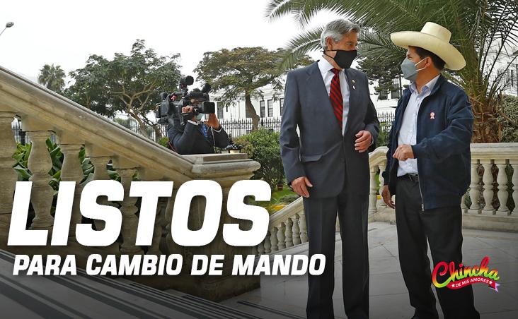 #FRANCISCO SAGASTI Y PEDRO CASTILLO SE REUNIERON EN PALACIO DE GOBIERNO