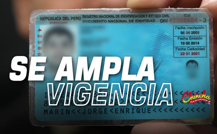 RENIEC PRORROGA HASTA EL 31 DE DICIEMBRE LA VIGENCIA DE DNI VENCIDOS
