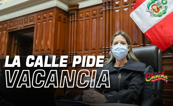 """#Presidenta del Congreso: """"La calle pide vacancia presidencial"""" contra Castillo"""