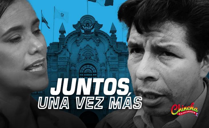 #VERÓNIKA MENDOZA SE REUNIÓ ESTE TARDE CON PEDRO CASTILLO EN PALACIO DE GOBIERNO