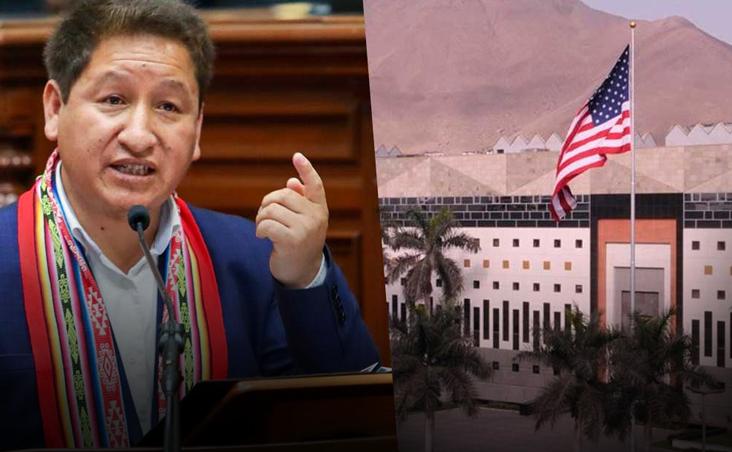 """#Guido Bellido: """"Se debe sacar a la embajada de EE.UU. del Perú y expulsar a la DEA""""."""